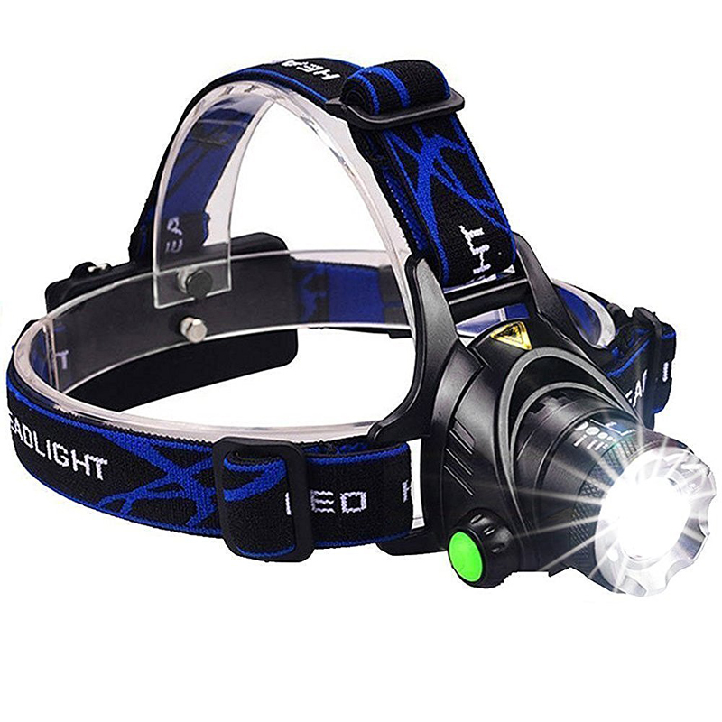 Powerful CREE XML T6 headlights headlamp Zoom waterproof 18650 rechargeable battery Led Head Lamp Bicycle Camping Hiking Light