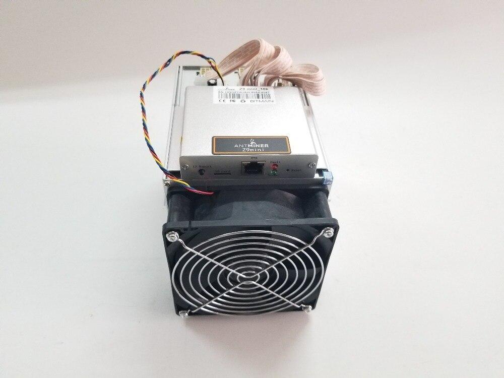 Envío en 24 horas BITMAIN Antminer Z9 Mini 10 k Sol/s Equihash ZEN ZEC BTG Miner mejor que WhatsMiner M3 M10 D1 S9 S9j