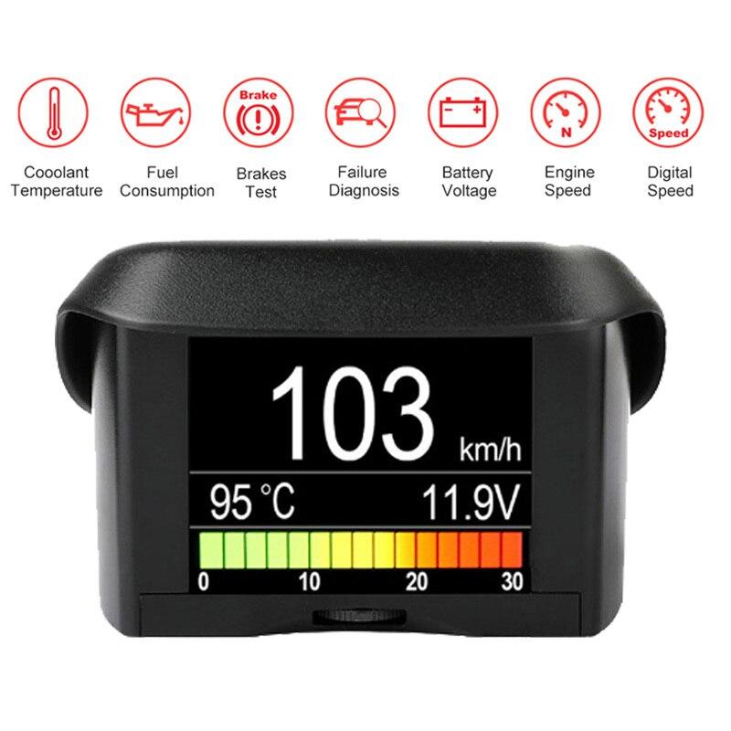 Ordinateur de bord Automobile Ancel A202 voiture numérique Obd ordinateur affichage compteur de vitesse consommation de carburant compteur jauge de température