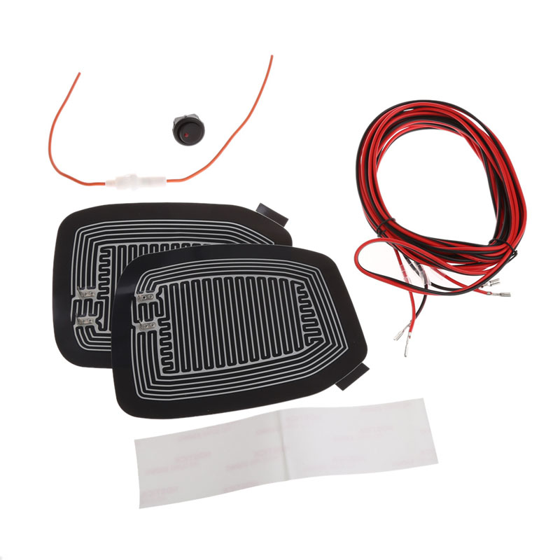1Set  Universal Quick Warm 12V Car Side Mirror Glass Heater Heated Defogger Pad Mat