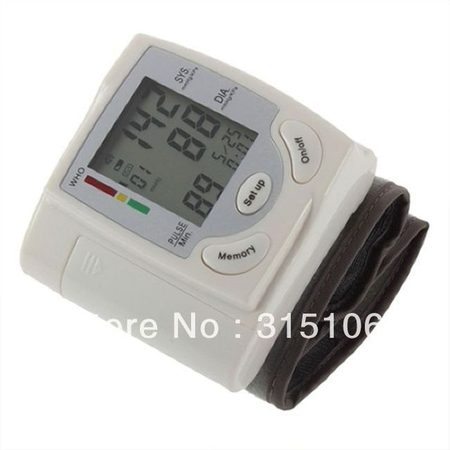Free Shipping NEW best Wrist Blood Pressure Monitor Arm Meter Pulse Sphygmomanometer
