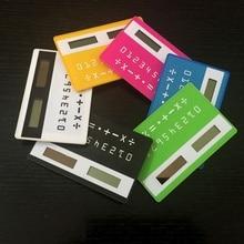 1 шт. канцелярские карты Портативный Калькулятор Мини Ручной ультра-тонкие карты калькулятор солнечный Мощность небольшой тонкий карманный калькулятор