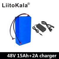 LiitoKala 48 v 15ah 48 V pil paketi 48 V 15AH 1000 W Elektrikli bisiklet pil 48V15AH lityum iyon batarya 30A BMS ve 2A Şarj Cihazı