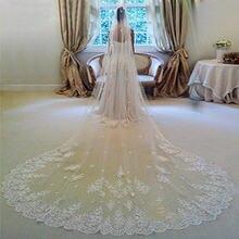 Свадебная фата с кружевным краем свадебная и расческой 3 метра