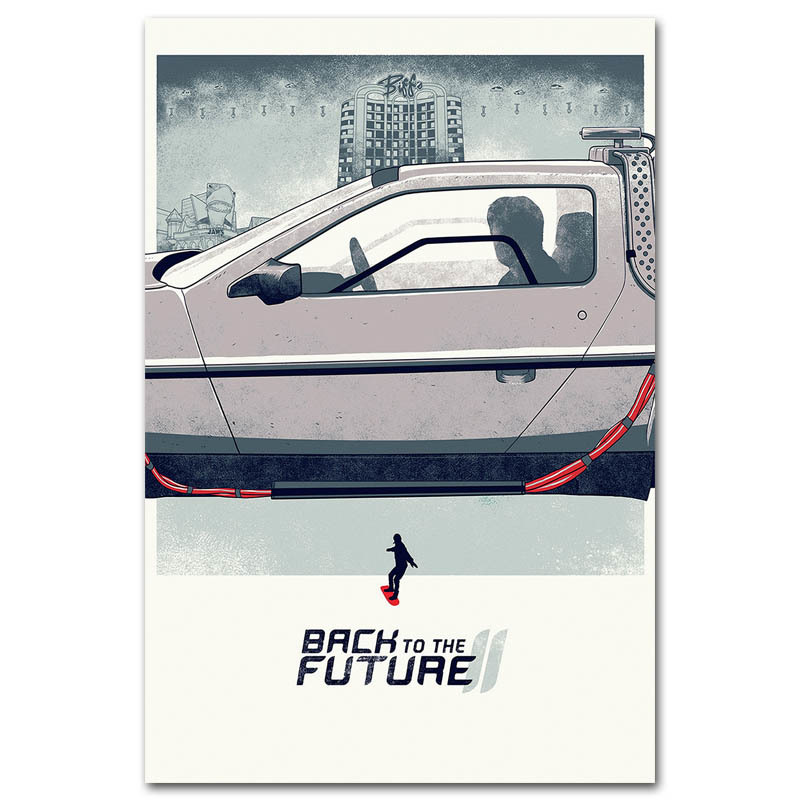 Back to the future Car 1 2 3 Classic Movie Art Silk Poster 13x20 24x36 Pictures For Living Room Wall Decoration 001