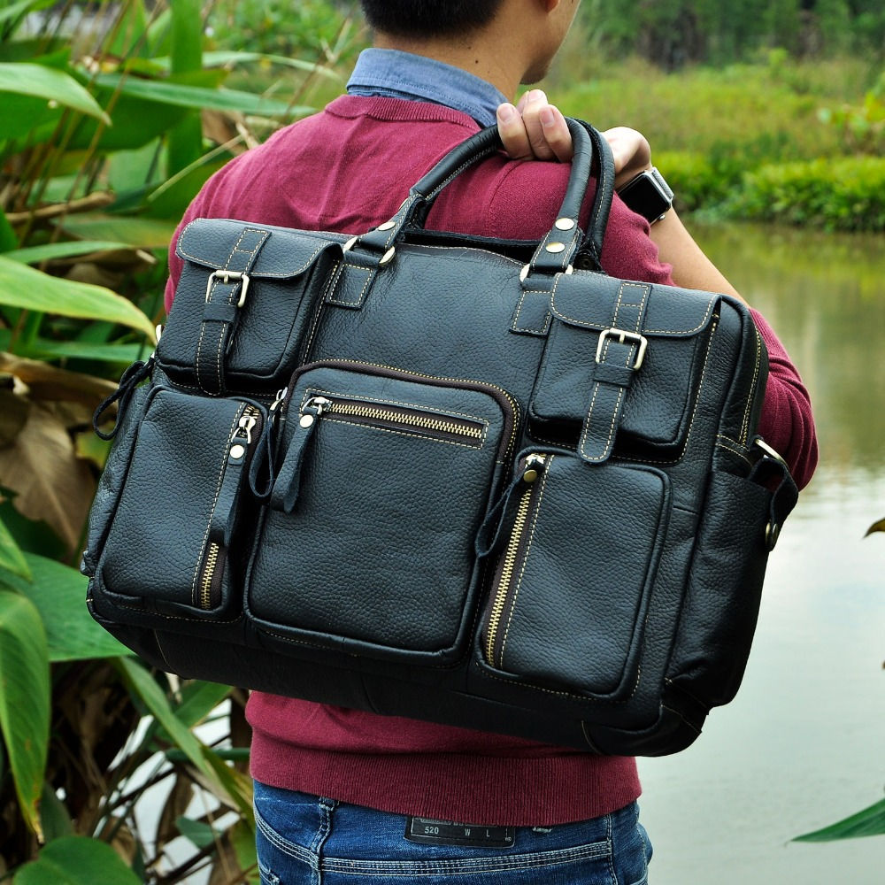 "HTB1sXO1fwDD8KJjy0Fdq6AjvXXao Men Real Leather Antique Large Capacity Travel Briefcase Business 15.6"" Laptop Case Attache Messenger Bag Portfolio 3061-b"