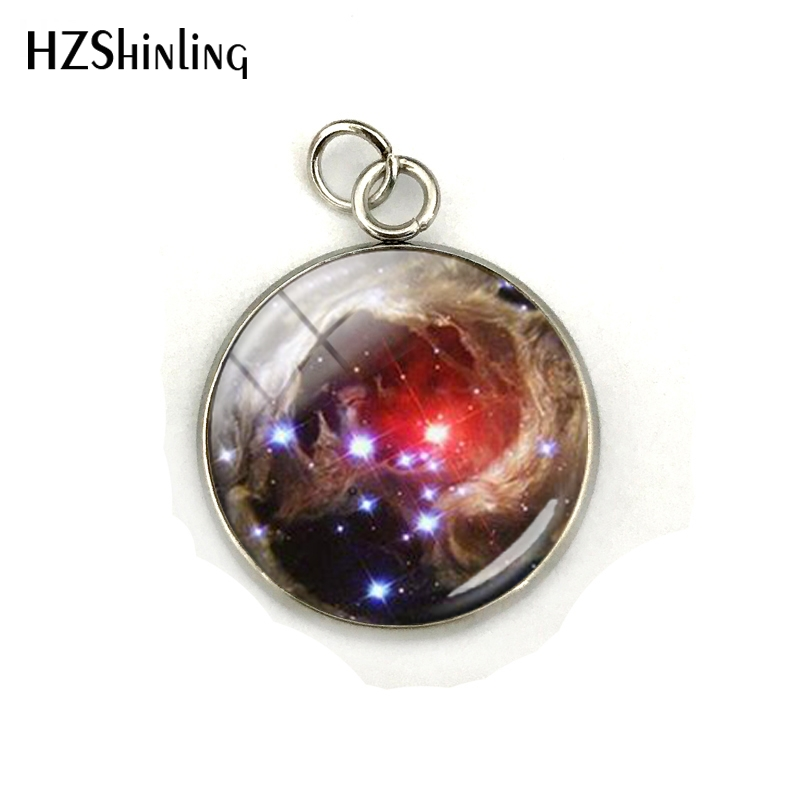 Nebula Space Pendant Astronomy Geek Jewelry, Nebula Charm Pendants Galaxy Space Glass Dome Stainless Steel Pendant Accessories 2
