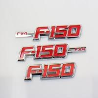3D ABS Car Emblem Badges Sticker Red Chrome Fender Door Side Logo For Ford F 150