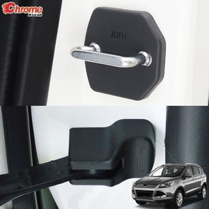 For Ford Escape Kuga 2013 2014 2015 2016 2017 2018 2019 Door Lock Cover Arm Checker Stopper Buckle Case Guard Car Accessories(China)