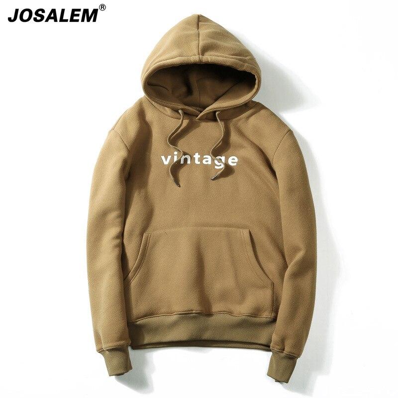 JOSALEM 2018 Mens Letter Printed Hoodies Fashion Spring Hip Hop Casual Men Youth College Hoody Sweatshirt Man Hooded Pullover