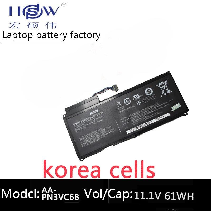 HSW Nouveau AA-PN3VC6B batterie d'ordinateur portable pour Samsung QX410 QX411 SF310 SF410 SF510 QX510 AA-PN3NC6F BA43-00270A batterie d'ordinateur portable