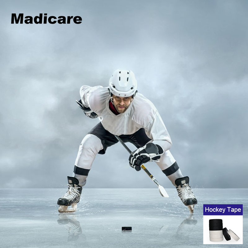 2 rollos paño hielo Telas Hockey Cintas deportes algodón palo Hockey Jersey  equipo dedicado juego hielo Hockey Cintas c25e757da0d