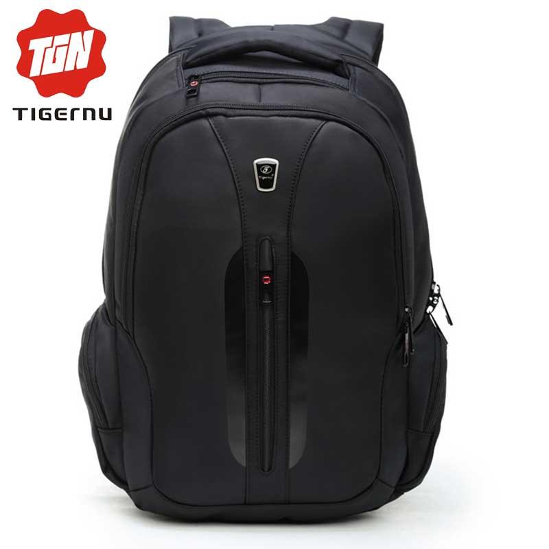 ФОТО 2017 Tigernu Ergonomics Business Casual Laptop Backpack Men School Mochilas Laptop Case Accessories Waterproof Nylon Backpack