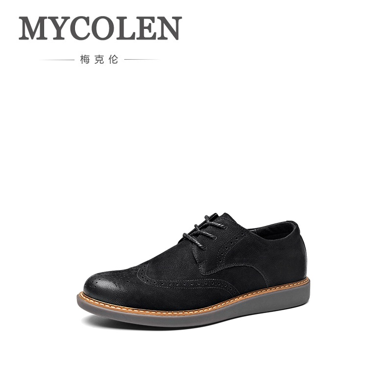 MYCOLEN New Fashion Brogues Derby Shoes Mens Business Shoes Genuine Leather Dress Shoes Mens Top Quality Wedding Shoes SapatosMYCOLEN New Fashion Brogues Derby Shoes Mens Business Shoes Genuine Leather Dress Shoes Mens Top Quality Wedding Shoes Sapatos