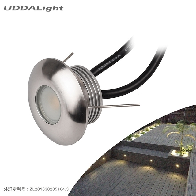 10pcslot round led foot light 1w recessed wall light step light 10pcslot round led foot light 1w recessed wall light step light staircase wall lamp aloadofball Choice Image