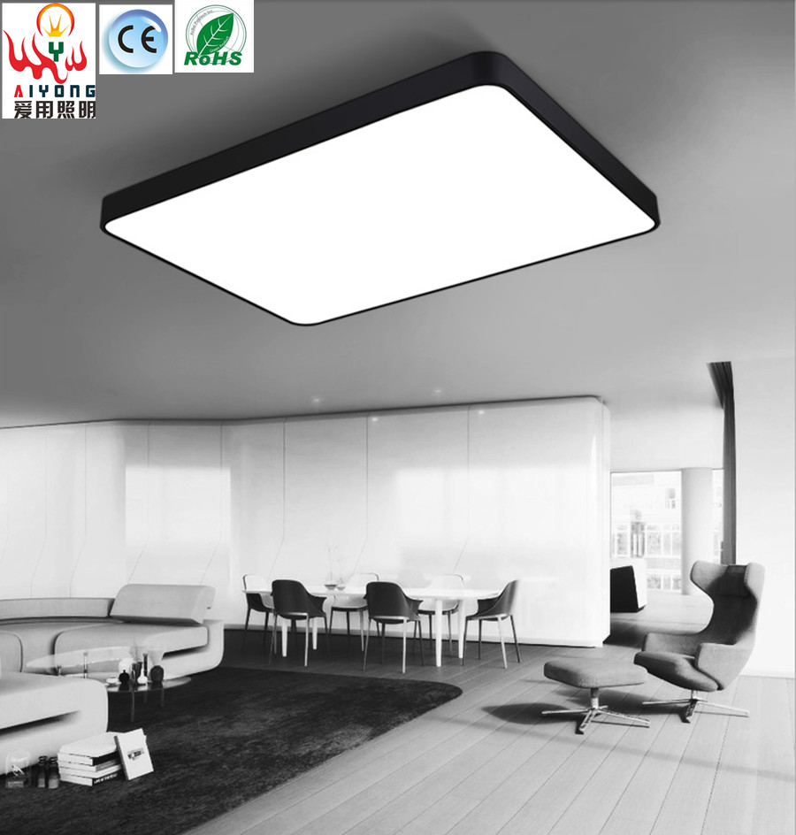 Led Ceiling Lamp Rectangular Living Room Lamp Fashionable Dining Room Lamps Modern Simple