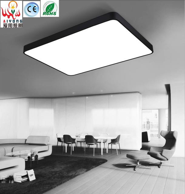 LED Ceiling Lamp Rectangular Living Room Fashionable Dining Lamps Modern