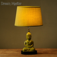 Nordic Table Lamp Creative Minimalist Modern Retro Buddha Lamp Bedroom Bedside Lamp Postage Free