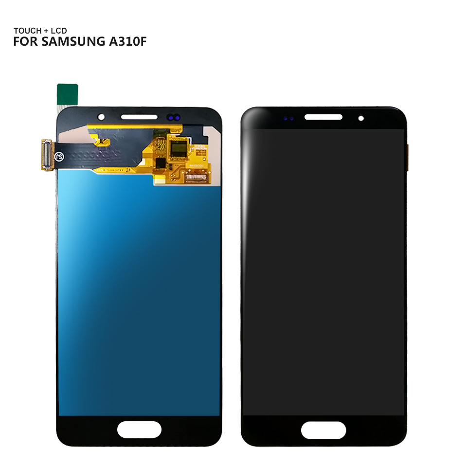 AAA <font><b>LCD</b></font> For <font><b>Samsung</b></font> Galaxy A3 2016 A310 <font><b>A310F</b></font> A310H A310M <font><b>LCD</b></font> Display Touch Screen Digitizer Assembly Replacement + Free Tools image