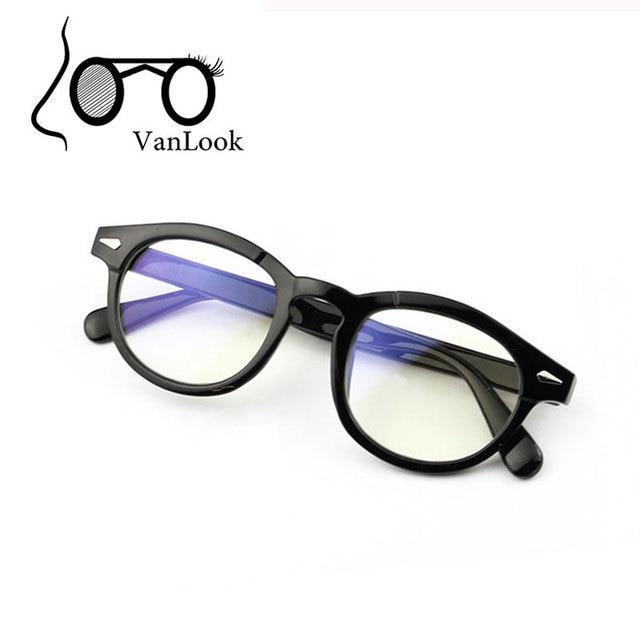 Moda Rodada Mulheres Homens Computador Armação de óculos com Lentes Claras  Vidros Transparentes Óculos de Armação dec1aabde9