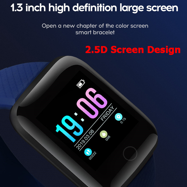 New Smart Watch Men Women Waterproof Digital Sport Watch Fitness Tracker Heart Rate Blood Pressure Electronic Pedometer Watch