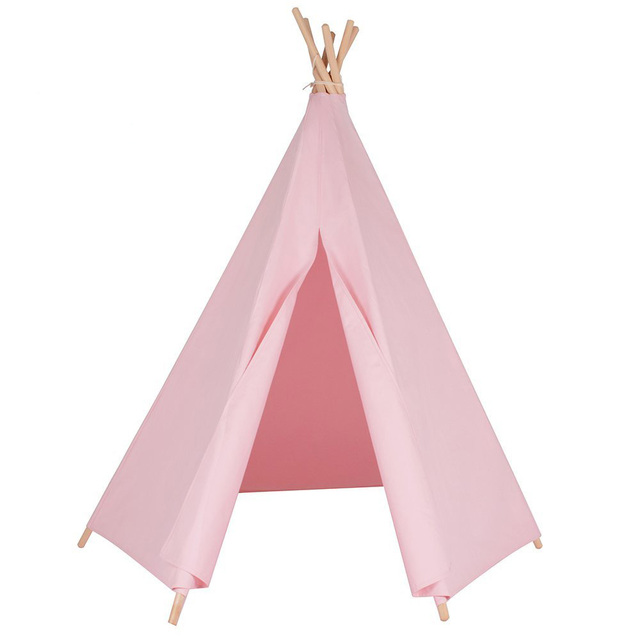 6-poles pink color teepee kid play tent cotton canvas kids teepee white playhouse fabric  sc 1 st  AliExpress.com & 6 poles pink color teepee kid play tent cotton canvas kids teepee ...