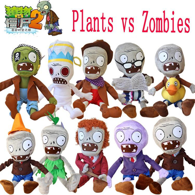 Hot 30cm Plants vs Zombies Plush Toys Kawaii Plush Plants vs Zombie Stuffed Toys Doll Children Kids Toys Birthday Christmas Gift hot sale 50cm the last airbender resource appa avatar stuffed plush doll toy x mas gift kawaii plush toys unicorn