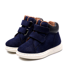 New Winter Children Shoes Thick Warm Cotton-Padded Suede Slip-resistant Boys and Girls Boots Kids Fashion Sneakers Size 23-37