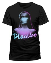 Custom Tee Shirts Fashion Men O-Neck Placebo Ghost Girl Short-Sleeve T