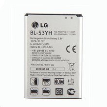 Original BL-53YH Battery for LG Optimus G3 D830 D850 D851 D855 LS990 VS985 F400 3000mAh replacement 3 8v 7000mah li ion battery back case for lg g3 bl 53yh d855 vs985 white