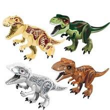 Jurassic Dinosaur Park World Figures Blocks Big Tyrannosaurs Rex Building Bricks Technic Children Toys