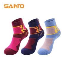 2 Pairs SANTO S018 Outdoor 45% Merino Wool Hiking Socks Women's Sports Socks Warm Spring Winter Fit to Size 35-38 все цены