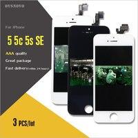 Ovsnovo 3PCS Pantalla For Iphone 5 5c 5s SE LCD Display Screen No Dead Pixel Check
