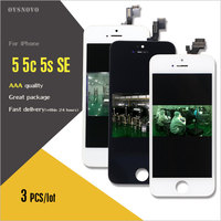 Ovsnovo 3PCS Pantalla For Iphone 5 5c 5s SE LCD Display Screen No Dead Pixel Check