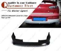 Автомобильные аксессуары FRP волокно стекло EX J стиль заднего бампера для губ подходит для 2012 2008 Mitsubishi Lancer сзади Diffuer губ
