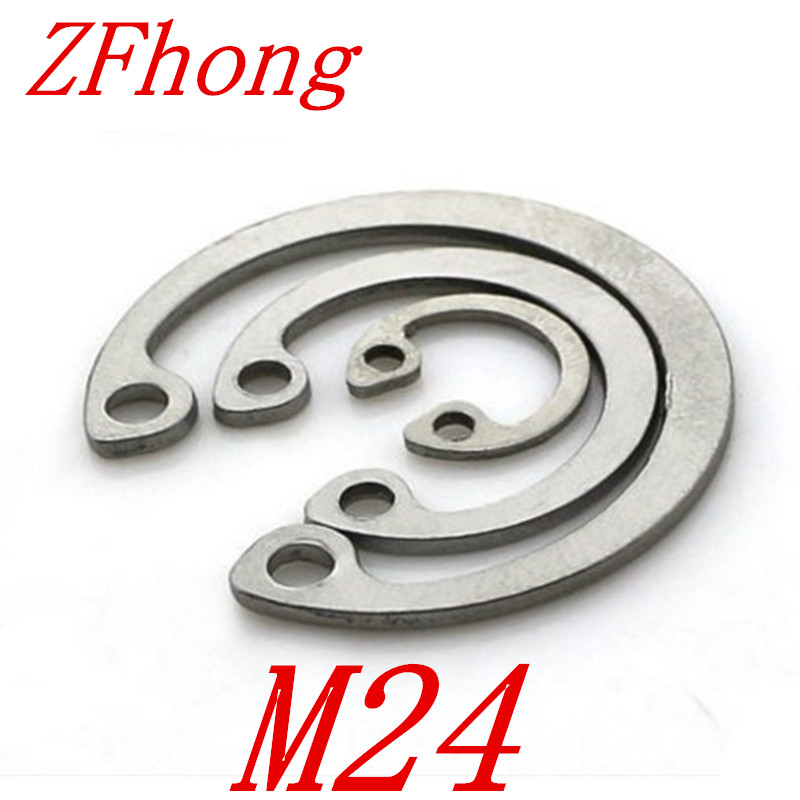 20pcs 304 Stainless Steel SS DIN472 M24 C Type Snap Retaining Ring For 24mm Internal Bore Circlip