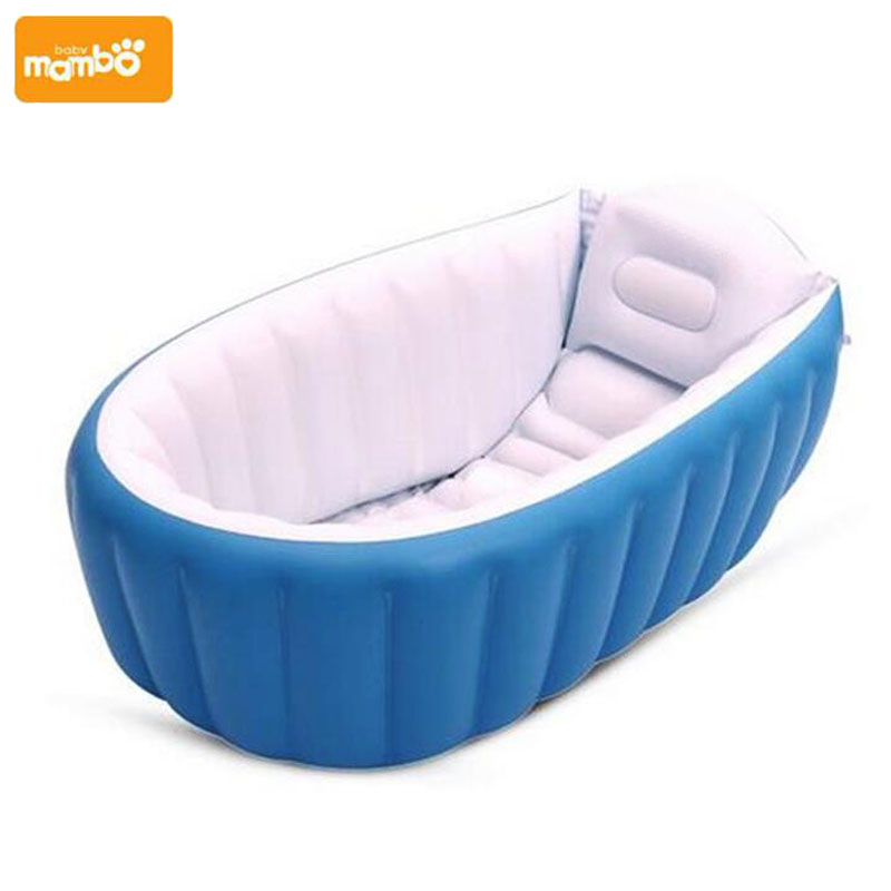 mambobaby portable inflatable baby bath kids bathtub thickening folding washbowl children tub. Black Bedroom Furniture Sets. Home Design Ideas