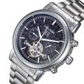Hot Classic Tourbillon Wrap Mens Watches Top Brand Luxury Automatic Watch Silver Case Calendar Male Clock Man Mechanical Watch