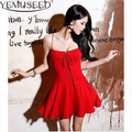 YEMUSEED CD69 New Women Summer Dress Bandage Short Above Knee Sexy Party Red Black White Dresses Women Clothing