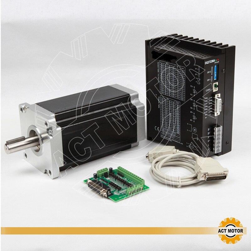 Kit de travail électrique Nema42 moteur ACT | 1 pièce, moteur Stepper 42HS2480 201mm 8A 4200oz-in + 1 pilote DM2722 230V, 9.8A, Machine à broder