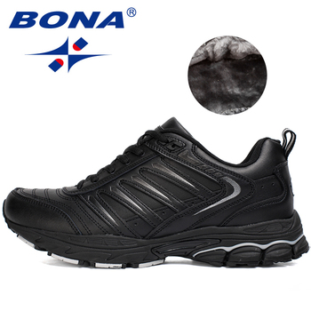 BONA New Classics Style Men Running Shoes Outdoor Walking Jogging Sneakers Lace Up Athletic Shoes Comfortable Sport Shoes Men bona new classics style men walking shoes lace up men athletic shoes outdoor jogging sneakers comfortable soft free shipping