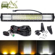 22 Inch 324W Led Offroad Bar Light For White Amber Flood Spot Combo Beams Lada Niva 4x4 Off Road ATV Uza SUV Trucks Barra Lights