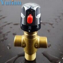 HOTAAN абсолютно новейший розничный-термостатический смесительный клапан из латуни, труба термостат клапан, контроль температуры смешивания воды