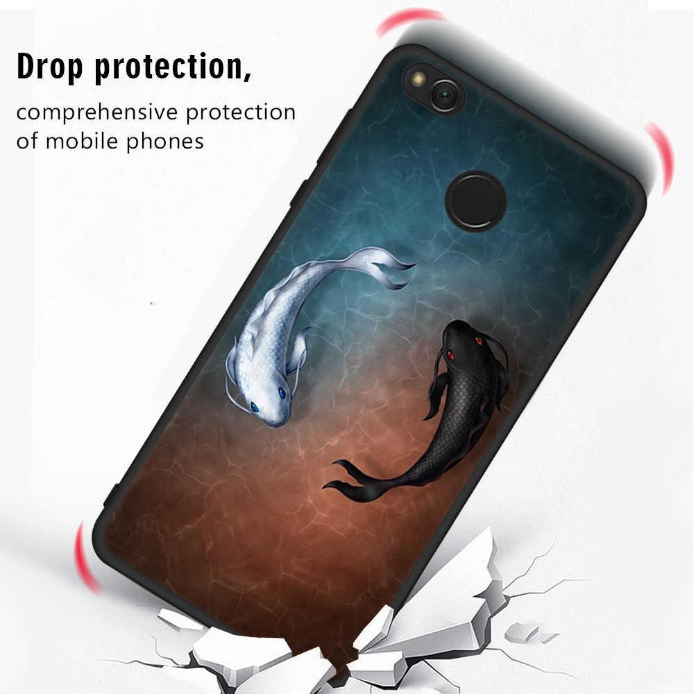EKDME Karikatür Siyah Gezegen xiaomi için telefon kılıfı Redmi Not 5A 4X4 5 Pro Küresel 5 Artı 4A Koruyucu Yumuşak Silikon arka kapak