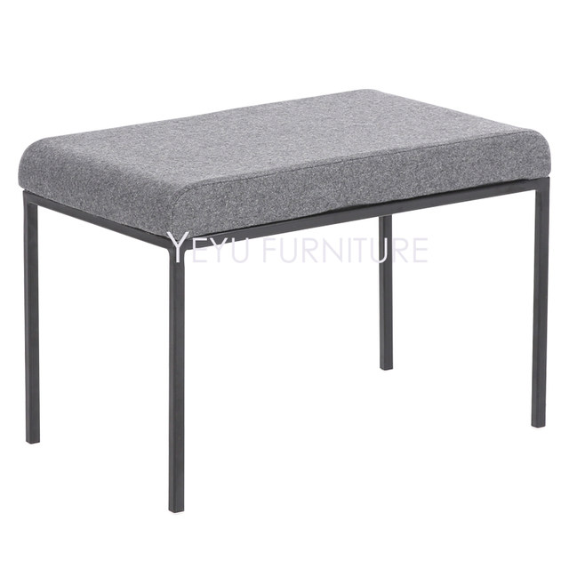 Minimalist Modern Design Upholstered Soft Cover And Metal Ottoman Stool Bench Shoes Living Room Bed End Stools Long