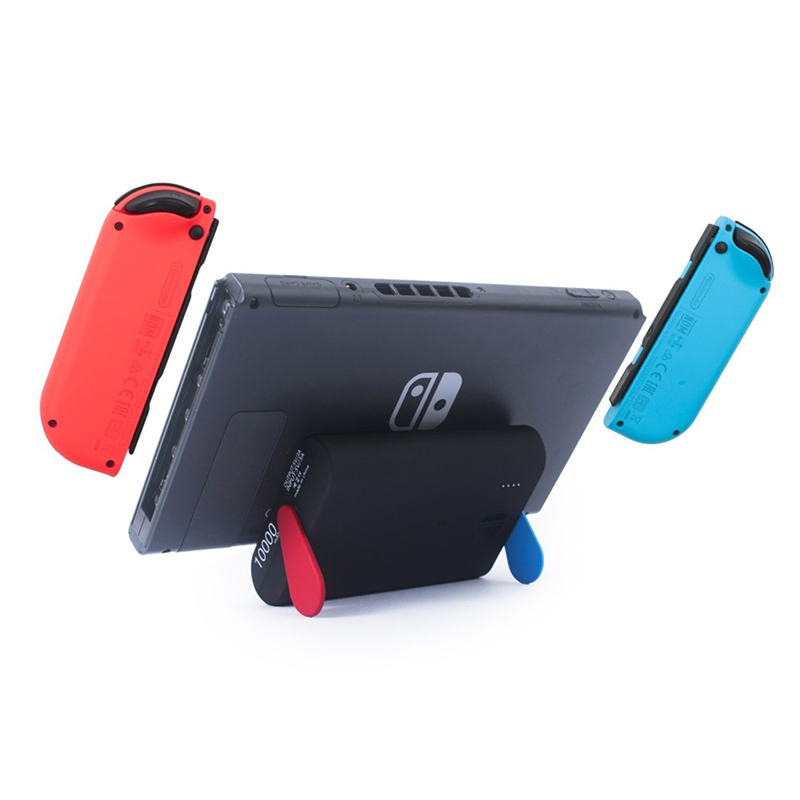 Power Bank 10000mAh Portable <font><b>Charger</b></font> w/ <font><b>Stand</b></font>, [USB Type C Slot For Nintendo Switch] [5V 3A Quick Fast External Battery]