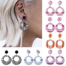 HOCOLE Fashion Wooden Rattan Knit Drop Earrings For Women Bohemian Round wood Dangle Earring Female Statement Jewelry Girls 2019 цена 2017