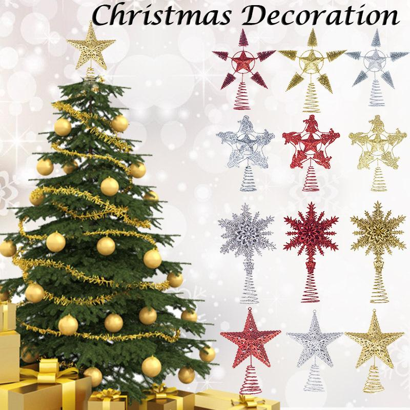 Christmas Tree Toppers.Us 2 9 25 Off Various Types Cute Christmas Tree Top Star Christmas Star Tree Topper For Table Christmas Ornament Xmas Decor Event Supplies E In Tree
