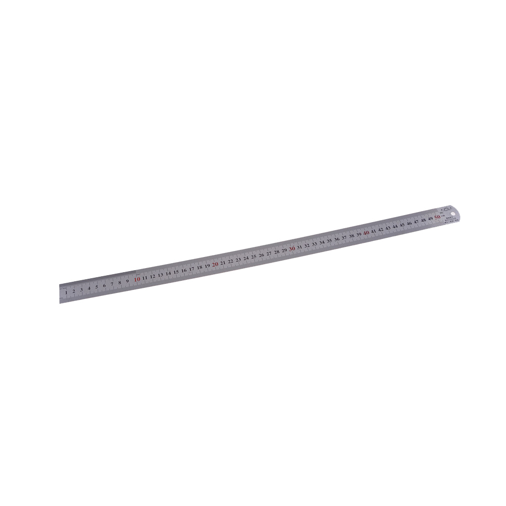 Steel Ruler Thicker Drafting Supplies Hardware Tools Ruler Double Faced For Office And School Kawaii 50cm 20 Inch Size:535x28mm