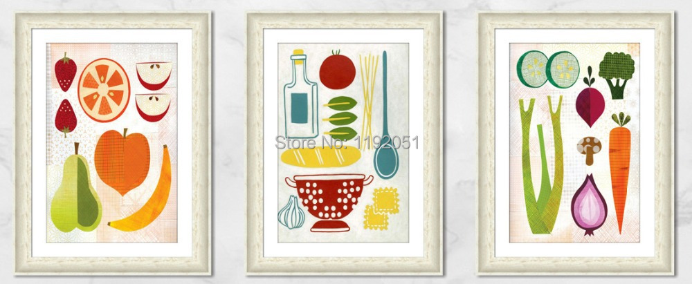 modern home decorative art painting abstract fruits dinning room children room choice mural prints free shipping